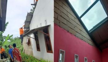 Puting Beliung Rusak Lima Rumah Warga Matras