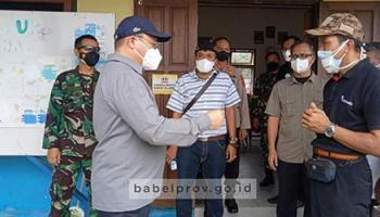 Rabu Depan Mulai Dijadikan Isoter, Gubernur Tinjau SMK 2 Tanjung Pandan