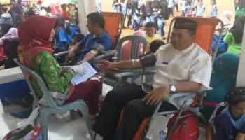Rangkaian HUT ke-16 Bangka Selatan, 16 Kantong Darah Terkumpul di Simpang Rimba