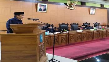 Rapat Paripurna DPRD, Pemkab Bangka Tengah Usulkan Tiga Raperda Strategis