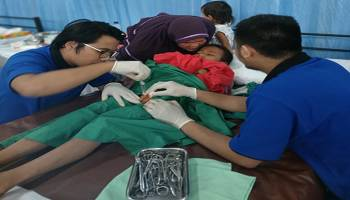 Ratusan Anak Ikut Sunatan Massal Bulan Bakti PT. Timah