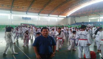 Ratusan Atlet Taekwondo se- Kota Pangkalpinang Ikuti Ujian Kenaikan Tingkat