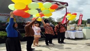 Ratusan Peserta Ikut Senam Sehat HUT ke-6 Bangka City Hotel