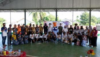 Rektor UBB Tinjau Mahasiswa KKN di Desa Bencah Bangka Selatan