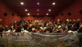 Relawan Demokrasi Ramaikan Nobar Suara April KPU Babel