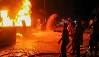 Rumah Beserta Tiga Motor dan Mobil di Desa Kerakas Ludes Terbakar