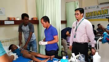 Rumah Sehat PT. Timah Khitan 100 Anak di Pangkal Pinang