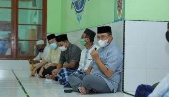 Sajadah Fajar, Gubernur Disambut Hangat Warga Air Jukung Belinyu