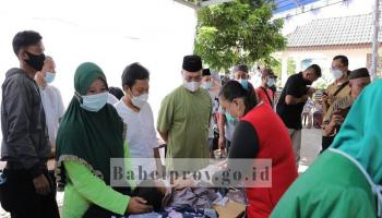 Sambangi Sunatan Massal di Toboali, Gubernur Pesan Jaga Protokol Kesehatan