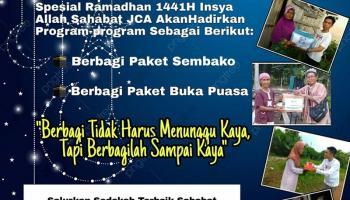 Sambut Bulan Suci, Sahabat JCA Kembali Hadirkan Program Berkah Ramadhan