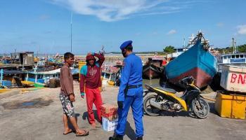 Sat Polair Polres Bangka Barat Ajak Masyarakat Laksanakan 3 M