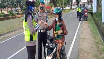 Satlantas Polres Bangka Barat Tilang 29 Kendaraan di Hari Kedua Operasi Patuh Menumbing 2020