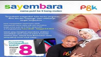 Sayembara Nama Putri Wali Kota Pangkal Pinang Berhadiah Iphone 8
