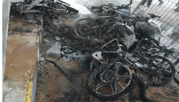 Video Sedang Antri Bensin Di SPBU Kace, Lima Motor Ludes Terbakar