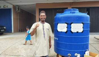 Sediakan Air Bersih dan Sabun Cair Untuk Masyarakat, Wawan Ajak Pengusaha Toboali Bantu Pemkab Cegah Covid -19
