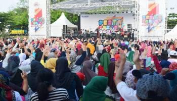 Semarak Pesta Rakyat PT Timah, Ribuan Masyarakat Padati ATS Sungailiat