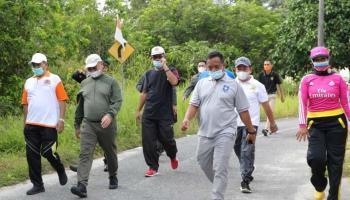 Sembari Jalan Santai, Gubernur Imbau ASN Pindah Faskes ke Klinik Kesehatan Pemprov Babel