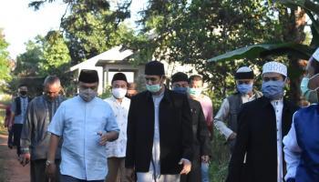 Sembari Meninjau Pembangunan Ponpes Maqdisi, Gubernur Minta Nasehat Ulama untuk Gelar MTQ Ditengah Pandemi