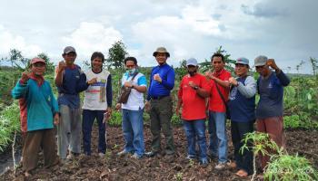 Serap Aspirasi Petani, Pengurus HKTI Babel Temui Kelompok Tani Harapan Mukti