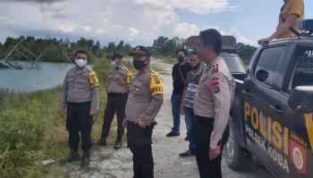 Setelah Ditertibkan Tim Polsek Koba, Kabag Ops Bateng Cek Langsung Kolong Pungguk Steril Dari Penambang Ilegal