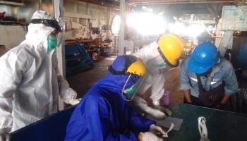 Sinergi Gugus Tugas Penanganan Covid-19 Babel dan PT Timah Lakukan Rapid Test ABK di Kapal