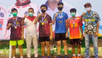 SMK Bakti Borong Juara Cabor Bulu Tangkis Popda 2020 Pangkalpinang