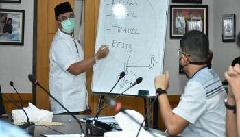 Sosialisasi New Normal, Gubernur Erzaldi Libatkan Pihak Airlines