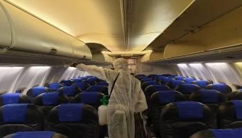 Sriwijaya Air Group Lakukan Penyemprotan Disinfektan Armada, Gudang Cargo dan Head Office