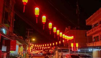 Suasana Imlek Kampung Bintang, Hiasan Lampion Jadi Daya Tarik