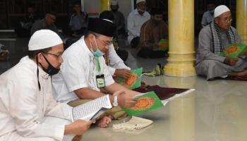 Sudah Lama Tak Terdengar, Kini Program Maghrib Mengaji Ada di Masjid Nurul Huda Sungailiat
