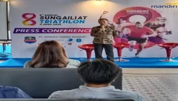 Sukseskan Sungailiat Triathlon 2020, Bupati Bangka Press Conference di Jakarta