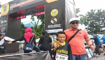 Syafiq Ar Rauf, Peserta Termuda Sungailiat Triathlon 2019