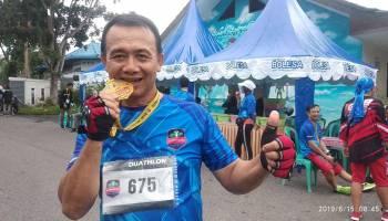 Syahbudin, Wakil Bupati Bangka Pertama yang Mengikuti Ajang Sungailiat Triathlon