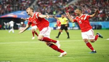 Tekuk Mesir 3-1, Rusia Lolos ke Babak 16 Besar