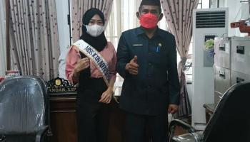 Temui Ketua DPRD Bangka, Novita Maya Sari Finalis 5 Besar Miss Icon Indonesia Serap Dukungan