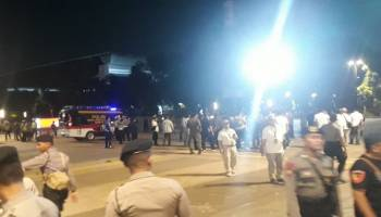 Terdengar Ledakan di Lokasi Nobar Debat Capres Parkir Timur Senayan