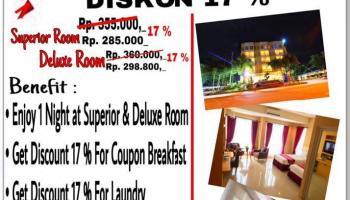 Terinspirasi Semarak HUT RI, Bangka City Hotel Hadirkan Diskon 17 Persen