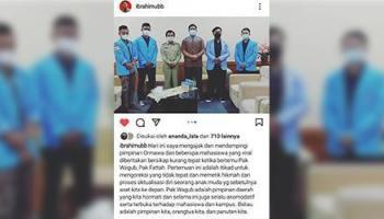 Ternyata, Oknum Mahasiswa Yang Tunjuk Wagub dan Angkat Kaki Disofa Baru Semester 3 dan 5, Ini Klarifikasi Dr.Ibrahim