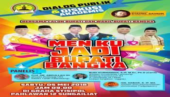 Tiga Pasang Kandidat Calon Bupati Bangka Siap Dialog di STISIPOL Pahlawan 12