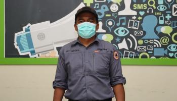 Tim Gustu Covid-19 Pemkab Bangka Terima Bantuan Gelang Pantau 400 Buah dari BPBD Babel