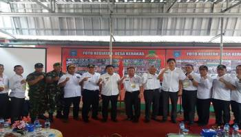 Tim Penilai Lomba Desa Tingkat Provinsi Sambangi Desa Kerakas