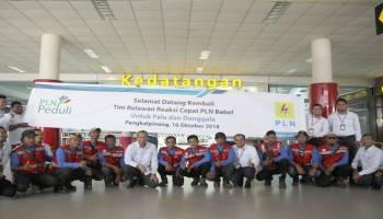 Tim Reaksi Cepat PLN Babel Selesaikan Misi Kemanusiaan di Palu dan Donggala