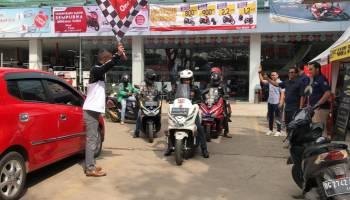 Tim Touring Honda PCX Bangka Tiba di Palembang dan Jambi