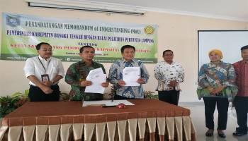 Tingkatkan Kualitas Petani, Bangka Tengah Jalin MoU Dengan Balai Pelatihan Pertanian Lampung