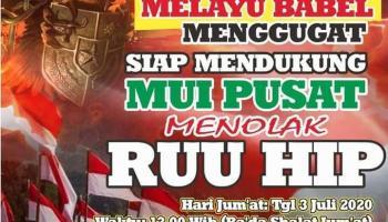 Tolak RUU HIP, Front Melayu Babel Bersatu Gelar Aksi Damai Usai Sholat Jumat