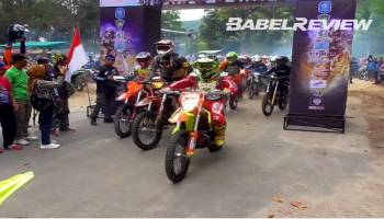 Tonton Video Keseruan 550 Kroser Berlaga di Sungailiat Adventour Trail 2018