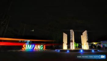 Tugu Simpang 5, Ikonik Baru Kota Pangkalpinang, Dibentuk Dari Parang Depati Amir
