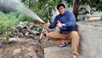 Tuntaskan Masalah Air Bersih, Pemdes Terak Pasang Jaringan Pipa