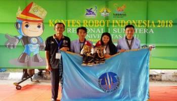 UBB Gondol Juara 3 Kontes Robot Indonesia Regional 1, Tim Evo-Dincak Benar-Benar Berdincak