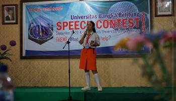 UPT Bahasa Gelar Speech Contest UBB 2019, Angkat Isu Bullying